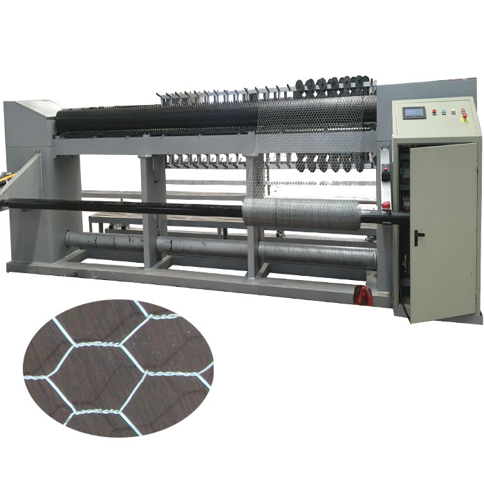 reverse twist hexagonal mesh machine